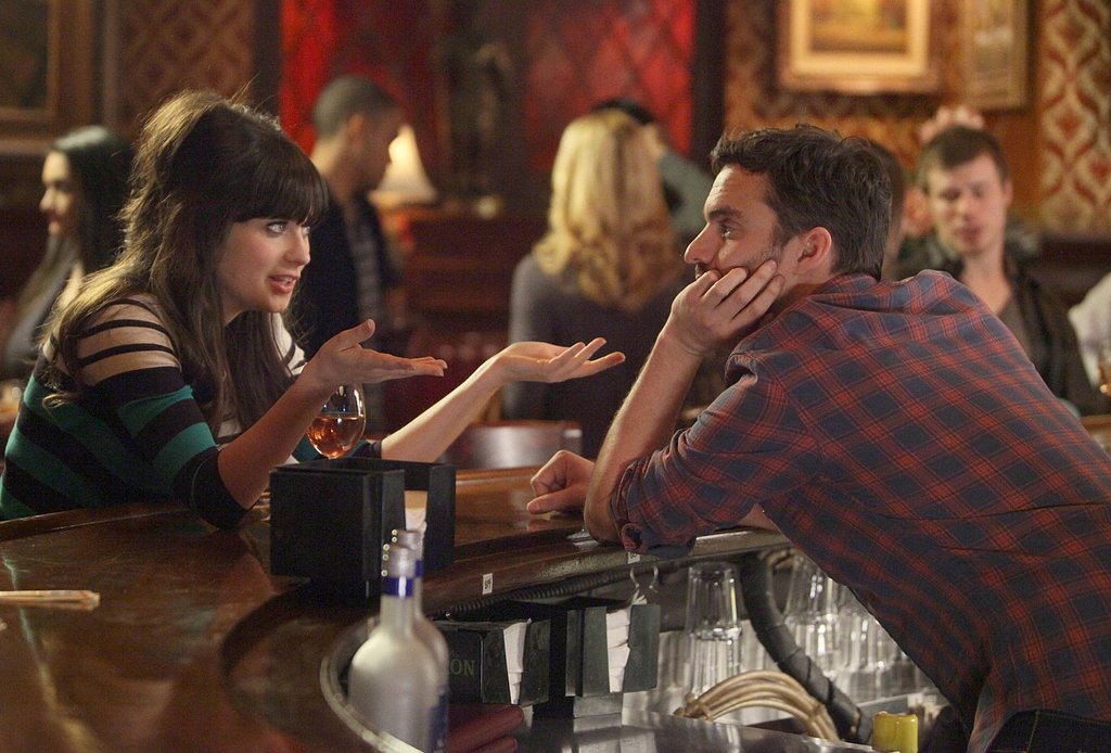They're friends first, and Jess goes to Nick for some advice when he's working at the bar.