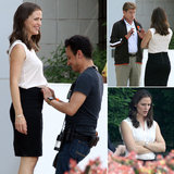 "Jennifer Garner Puts in Real ""Work"" on Set"