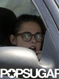 Kristen Stewart wore glasses after news of her split from Robert Pattinson was released.