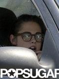 Kristen Stewart wore glasses after news of her split from Robert Pattinson was released.