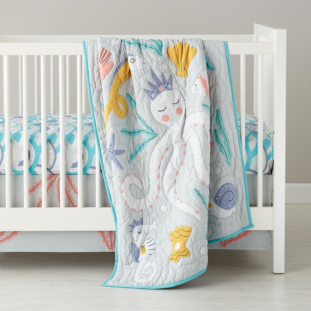 The Land of Nod Marine Queen Crib Bedding