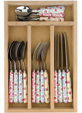 Provence Rose 16 Piece Cutlery Set