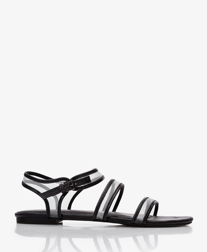 FOREVER 21 Mesh Strappy Sandals