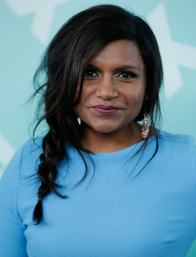 Messy and textured, Mindy Kaling's braid at the Fox 2013 programming afterparty is the perfect solution to your bedhead woes.