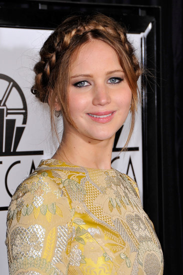At the Critics' Choice Awards, Jennifer Lawrence sported a piecey crown braid that's a fun, boho take on the style.
