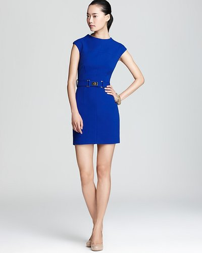 Milly Crepe Dress - Daphnie with Belt