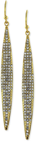 Vince Camuto Earrings, Gold-Tone Crystal Pave Linear Earrings