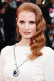 Jessica Chastain attended the Cleopatra premiere in Cannes wearing a taupe makeup palette that had a decidedly vintage lilt.