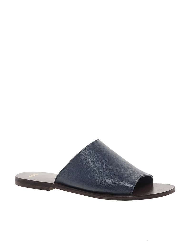Minimalists ought to plan on living in these simply chic navy slides from ASOS ($37).