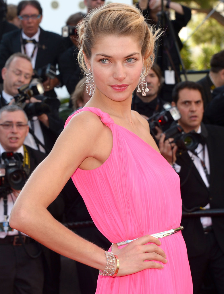 Jessica Hart wore Chopard jewels.