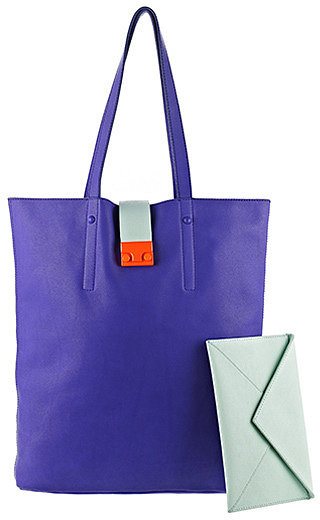 Loeffler Randall's Locker Tote ($495) could brighten your whole look, thanks to the vibrant blue hues — it also keeps you organized with a handy detachable envelope clutch.