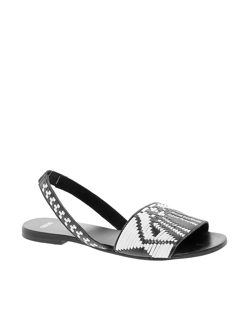 Have some fun with patterns like this graphic black and white ASOS sling-back ($44).