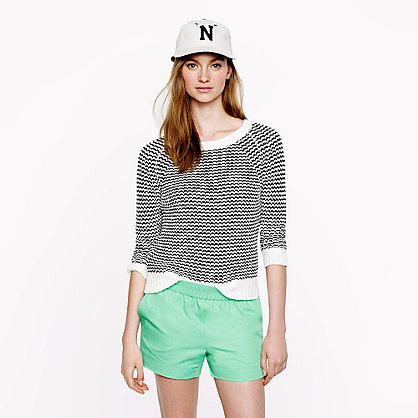 These J.Crew green cotton shorts ($50) feature a sporty vibe but still feel girlie.