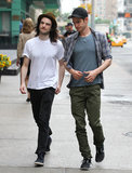 Tom Sturridge and Andrew Garfield had lunch together in NYC.