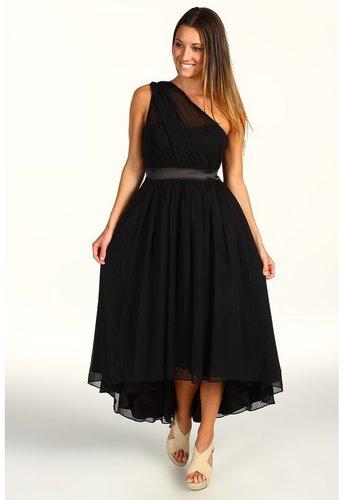 Jessica Simpson - One Shoulder Gathered Evening Dress (Black) - Apparel