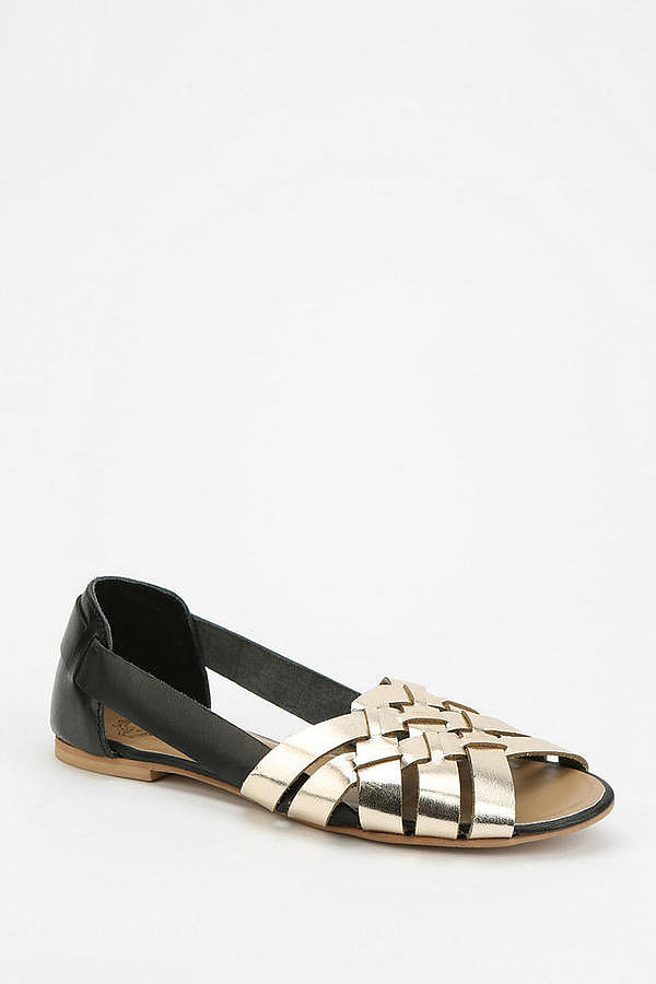 A retro favorite, Ecote's black and gold huarache ($39) adds some glitz to any sundress.