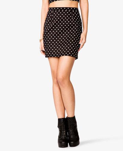 FOREVER 21 Polka Dot Mini Skirt