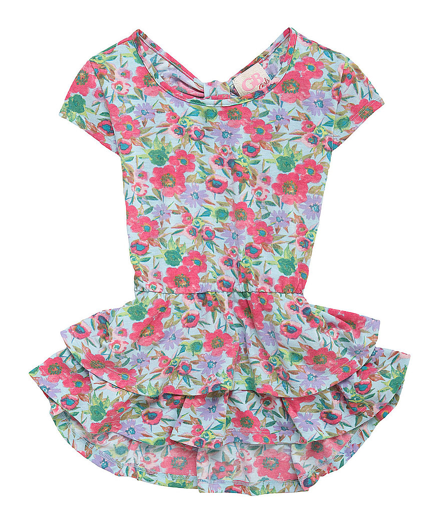 GB Girls Floral Peplum Top