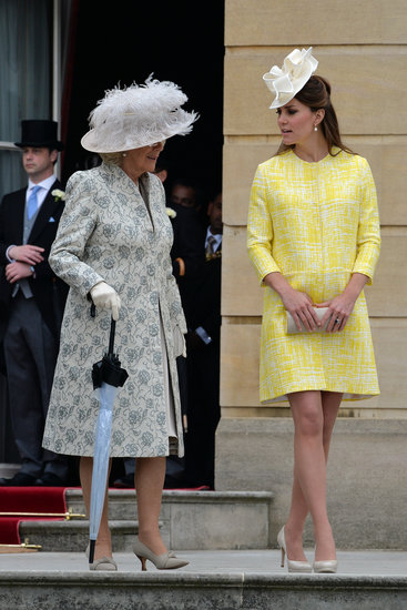 Kate Middleton wore a yellow coat by Emilia Wickstead to a garden party hosted by Queen Elizabeth II.