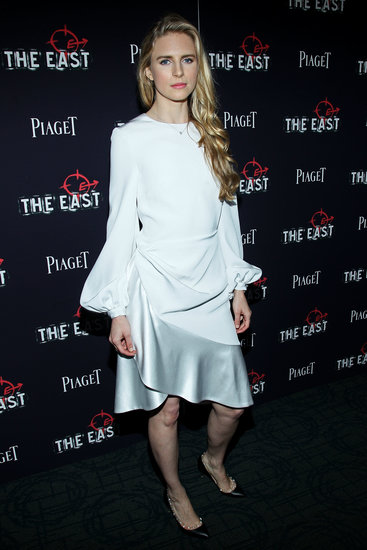 Brit Marling's white ruffled Prabal Gurung dress wowed at the NYC premiere of The East.