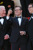 Matt Damon took several pictures on his phone while at the Cannes Film Festival for the Behind the Candelabra premiere with producer Jerry Weintraub and writer Richard LaGravenese on Tuesday.