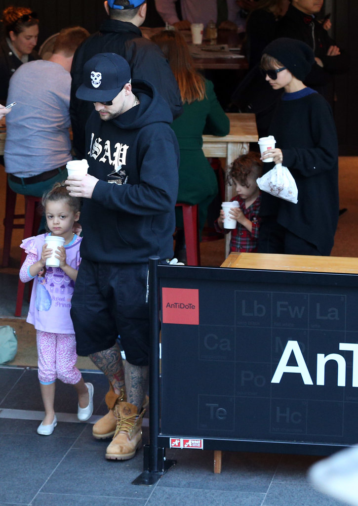 Joel Madden and Nicole Richie Do a Coffee Run With the Kids