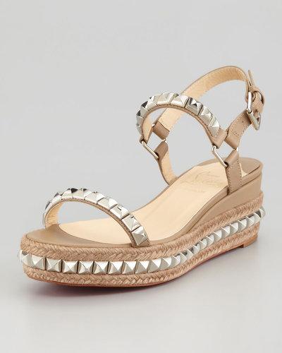 Christian Louboutin Cataclou Flatform Sandal, Stone