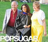 Eva Longoria's parents accompanied her to her graduation.