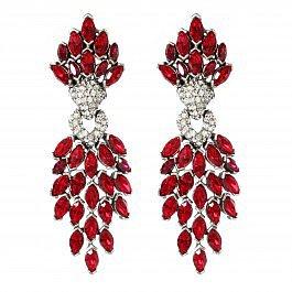 Ben-Amun Ruby Cascading Crystal Earrings