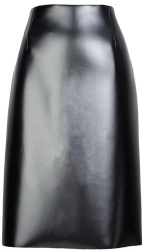 Bonded Vinyl Pencil Skirt
