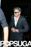 George Clooney Stumbles as Stacy Keibler Looks Into Rom-Coms