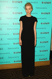 Carey Mulligan was the epitome of minimalistic chic in a black short-sleeved gown at the Tiffany & Co. dinner in honour of The Great Gatsby in Sydney.
