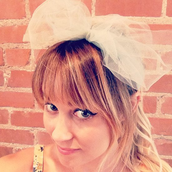 Lauren Conrad showcased an oversize tulle bow — we like the look! Source: Instagram user laurenconrad
