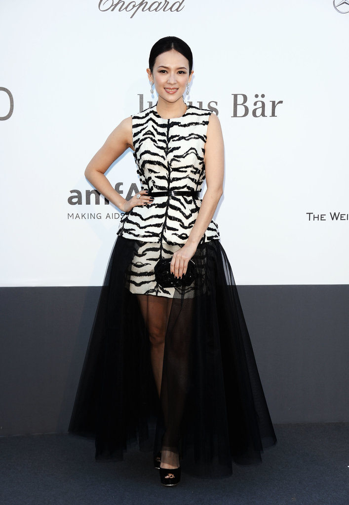 Zhang Ziyi at the amfAR gala in Cannes.