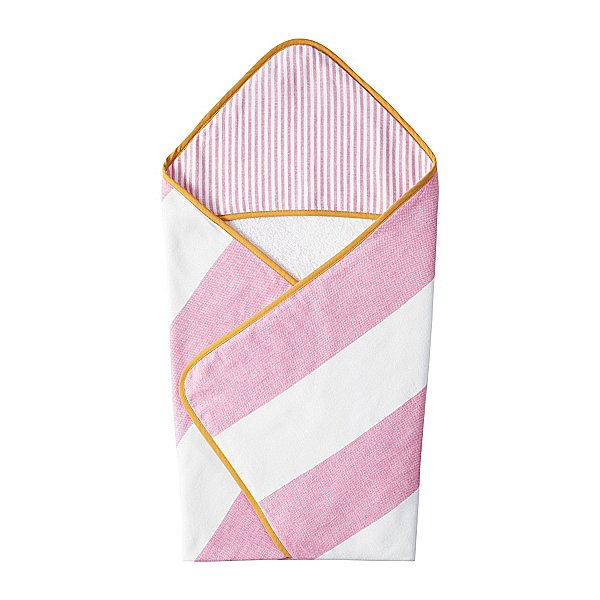 Anyone up on design trends is familiar with the increasingly popular fouta — a fine Turkish towel made from contrasting soft cotton and cotton terry. Serena & Lily's new design features a hood ($38) — perfect for little scrub-a-dub-dubbers!