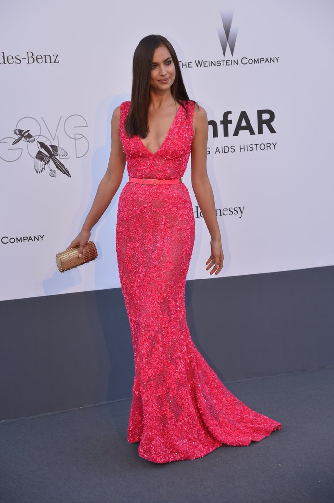Irina Shayk at the amfAR gala in Cannes.