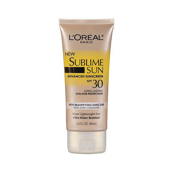 Infused with grape seed and vitamin E, L'Oréal Sublime Sun Advanced Sunscreen SPF 30 Lotion ($10) has antiaging benefits beyond sun protection.