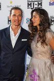 Camila Alves laughed with her husband Matthew McConaughey at an Austin, TX charity event in April 2013.