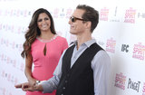 Camila Alves and Matthew McConaughey goofed off on the red carpet at the February 2013 Spirit Awards in LA.