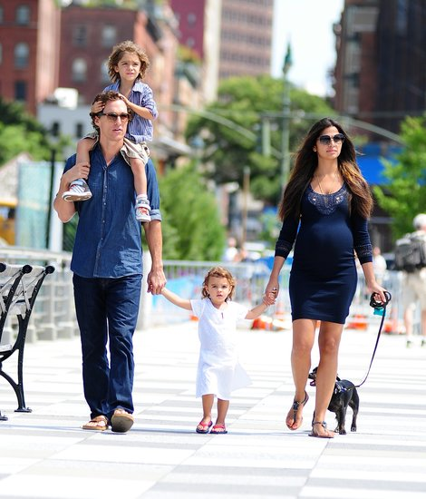Matthew McConaughey and Camila Alves took their family for a walk in NYC in August 2012.