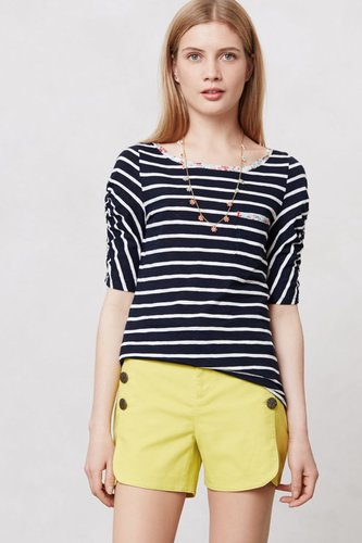Ruched & Ruled Tee