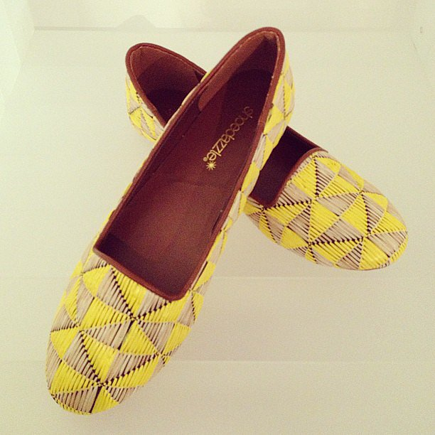 These printed flats from Shoedazzle would add a welcome pop of color to a white sundress.