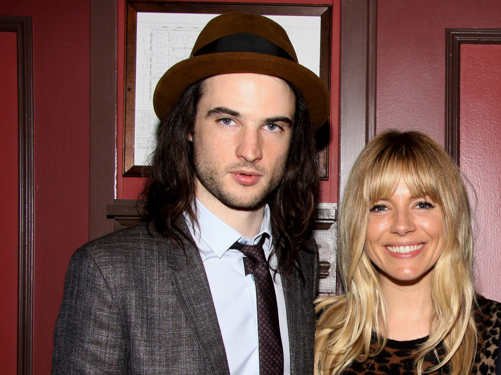 Sienna Miller smiled with Tom Sturridge.