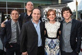 The cast of Now You See Me posed together at the screening.