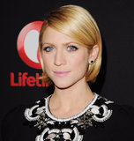 Brittany Snow wore her bob neatly tucked behind her ears at a recent event. You can get a similar look by blow-drying your ends with a round brush. Or you can even use a flat iron or curling iron to give your ends a smooth shape.