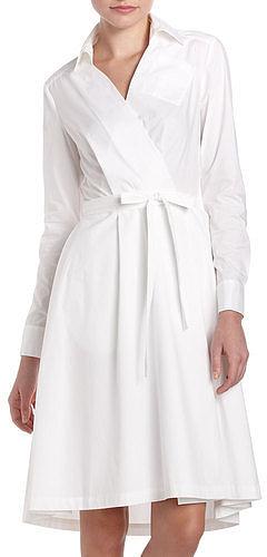 Diane Von Furstenberg Robin Wrap Shirtdress, White