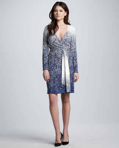 Diane von Furstenberg Linda Tie-Waist Printed Wrap Dress