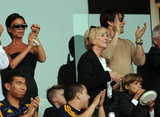Victoria Beckham cheered alongside Tom Cruise at a July 2009 Galaxy game in LA.