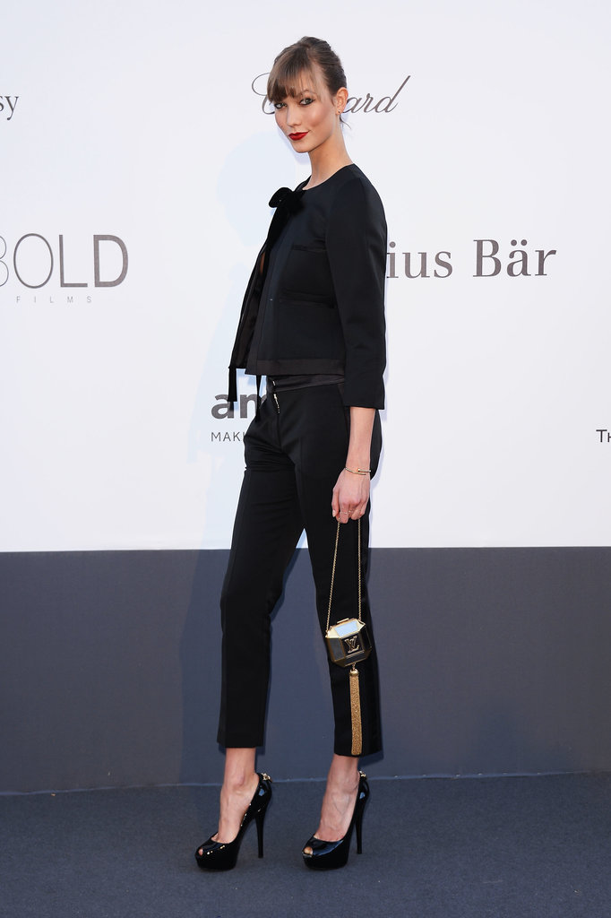 Karlie Kloss wore Louis Vuitton at amfAR's 20th Annual Cinema Against AIDS gala in Cannes.