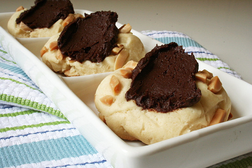 "Vegan Almond Thumbprints With Chocolate ""Buttercream"""